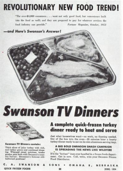 Vintage TV Dinner ad