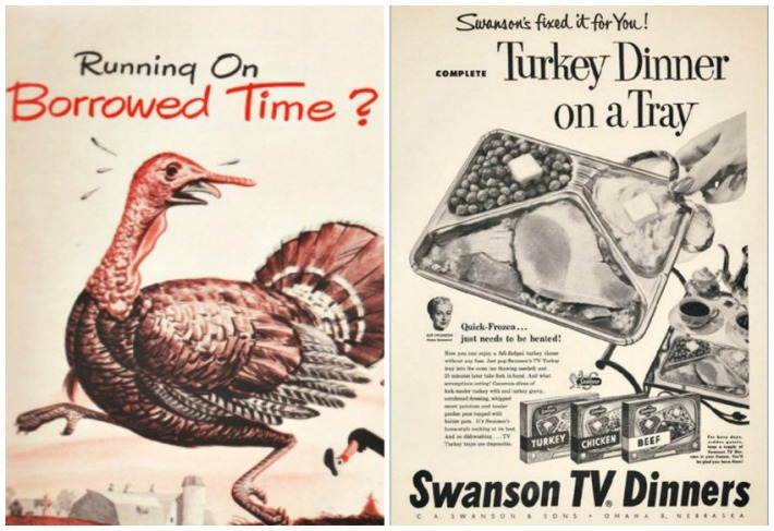 trurkey and vintage swanson TV Dinner ad