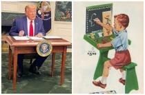 Trump Little Desk and Playschool desk