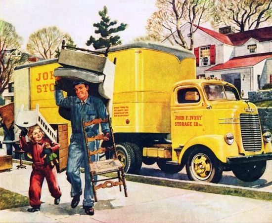 vintage illustration movers