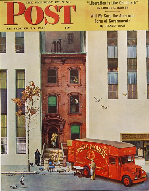 vintage Saturday Evening Post City Moving