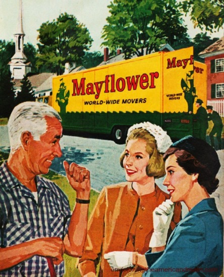 vintage illustration Mayflower Moving ad 1950s
