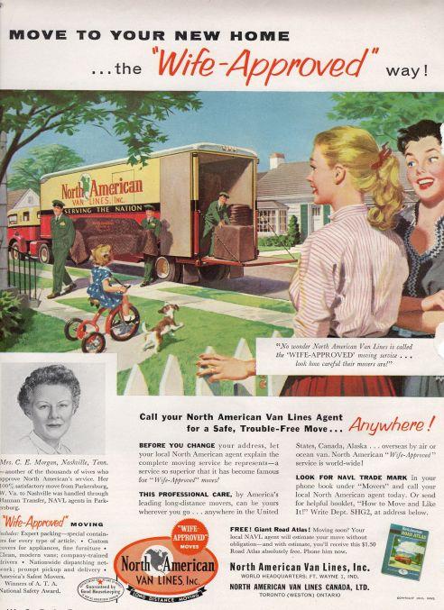 Vintage ad 1956 North American Van Lines