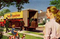 vintage illustration moving