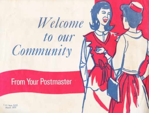 Vintage Welcome Wagon Envelope