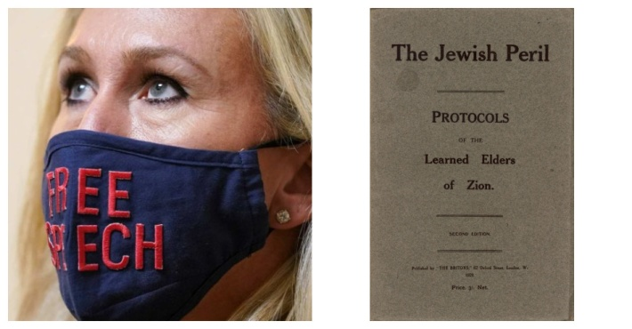 "Marjorie Taylor Greene ""The Jewish Peril Protocols Of the Learned Elders of Zion"""