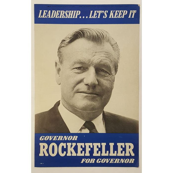 campaign poster Governor Nelson Rockefeller