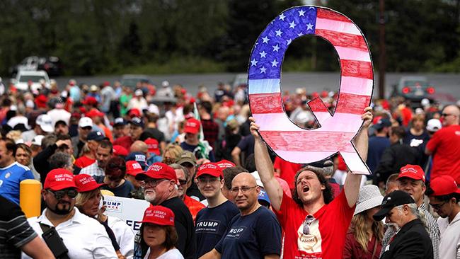 QAnon at a Republican Trump Rally