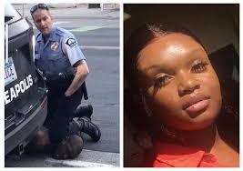 Darnella Frazier and officer Derek Chauvin