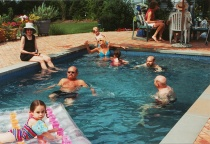 Family Photo Pool Party