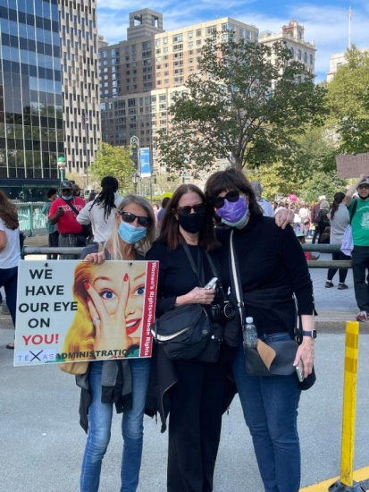 At Womens March Oct. 2021
