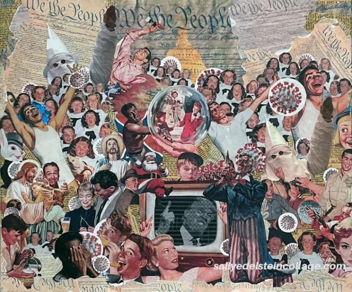 Art Collage Hand Cut Sally Edelstein