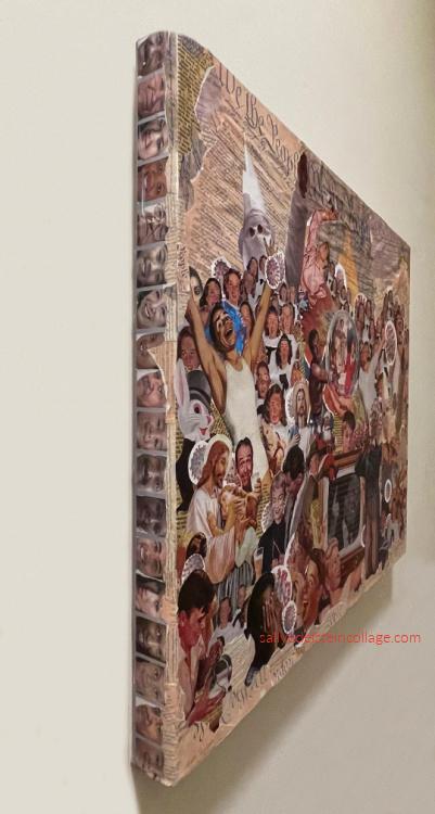 collage art canvas Sally Edelstein